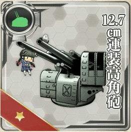 12,7cm連装高角砲の画像です