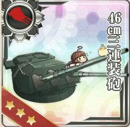 46cm三連装砲の画像です
