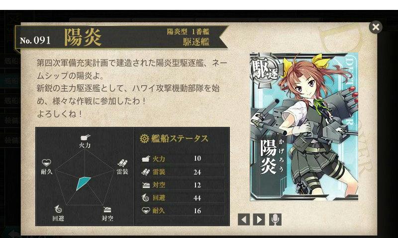 艦これ 図鑑No.91 陽炎