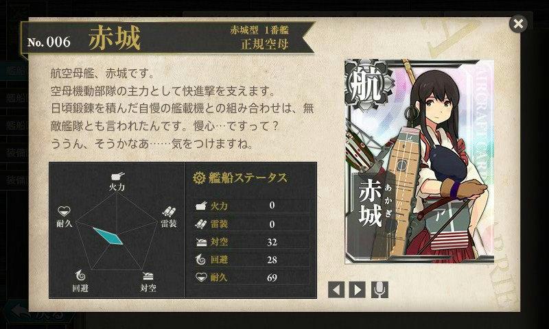 艦これ 図鑑No.6 赤城