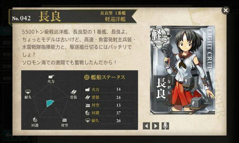 艦これ 図鑑No.42 長良