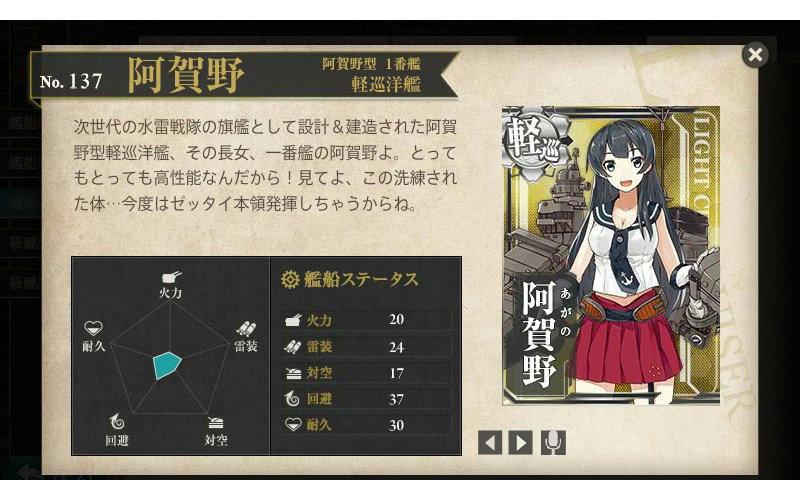 艦これ 図鑑No.137 阿賀野