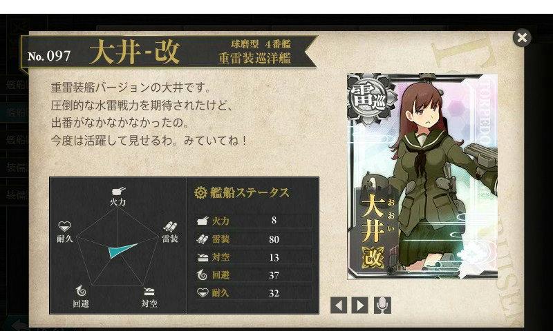 艦これ 図鑑No.97 大井改