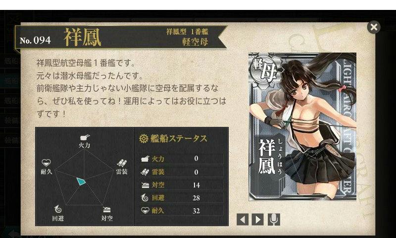 艦これ 図鑑No.94 祥鳳