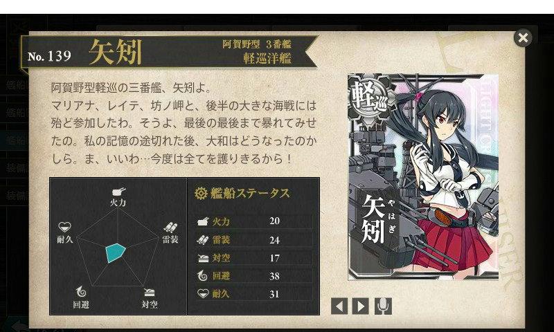 艦これ 図鑑No.139 矢矧