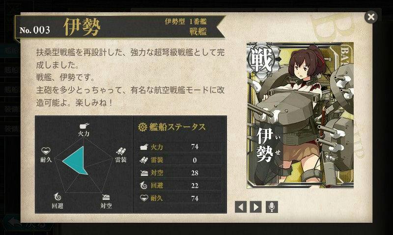 艦これ 図鑑No.3 伊勢