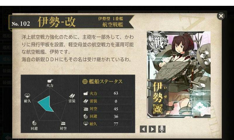 艦これ 図鑑No.102 伊勢改