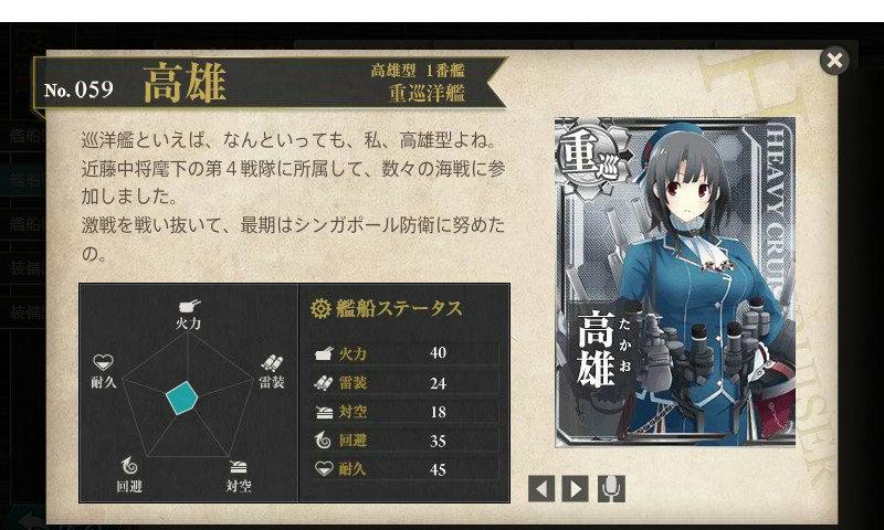 艦これ 図鑑No.59 高雄