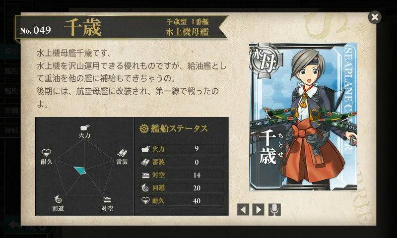 艦これ 図鑑No.49 千歳