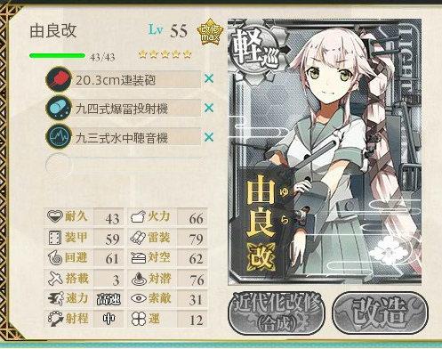 4-3レベリング僚艦対潜装備例