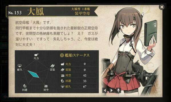艦これ 図鑑No.153 大鳳