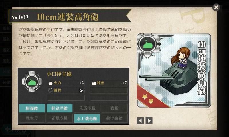 艦これ図鑑No.071 10cm連装高角砲(砲架)