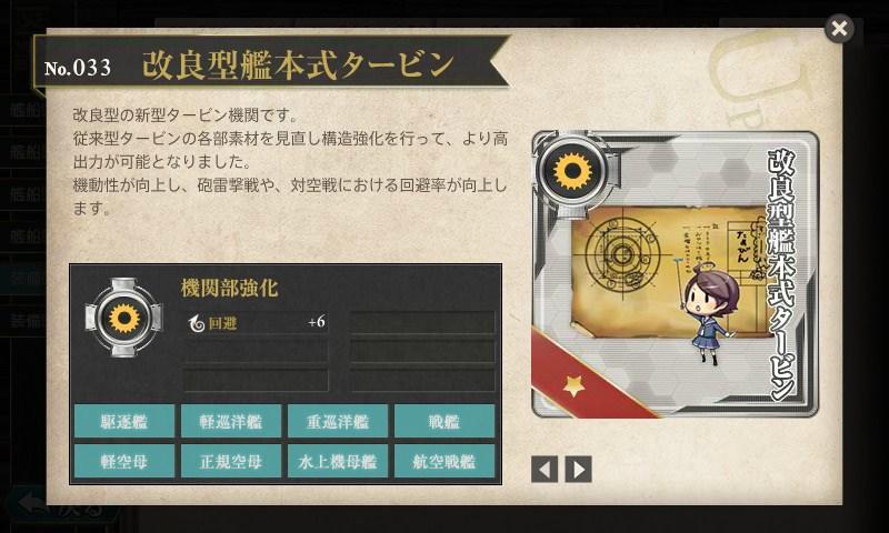 艦これ 図鑑No.033 改良型艦本式タービン