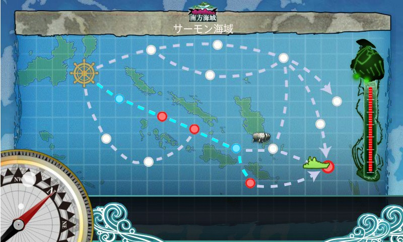 潜水艦編成での5-4ルート