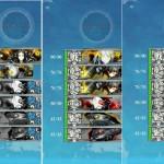 敵編成変更の5-4。5-4-1レベリングは辛くなったが、潜水艦で戦果稼ぎは捗る!