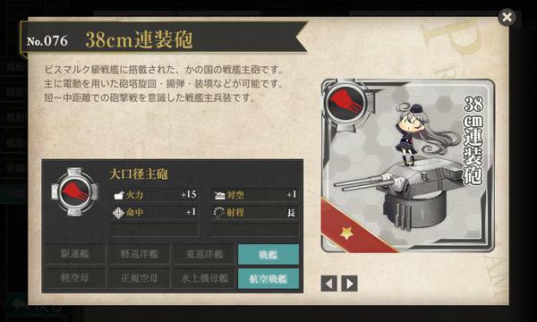 図鑑No.076 38cm連装砲