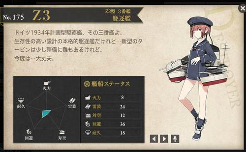 図鑑No.175 Z3(マックス・シュルツ)