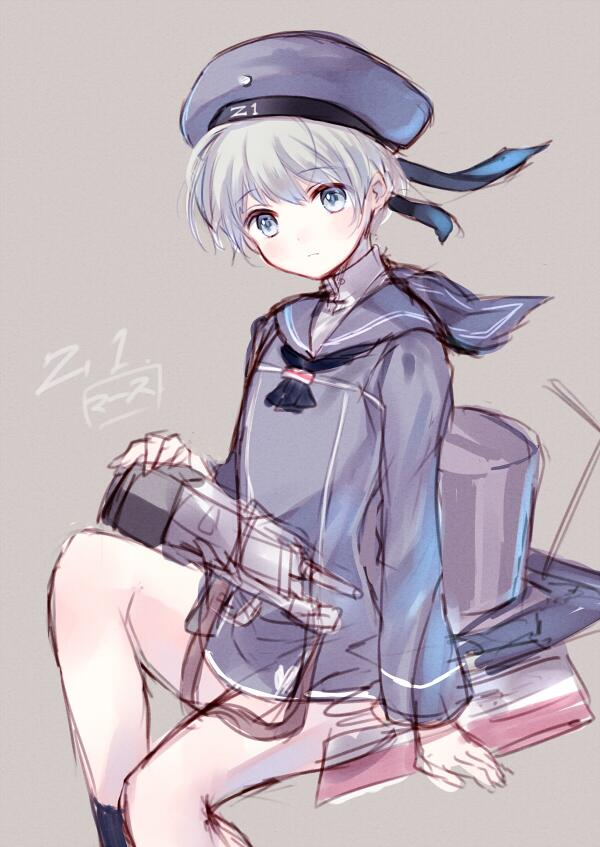 【艦これ落書き】駆逐艦のZ1レーベレヒト・マース ちゃん。