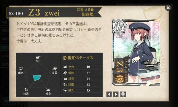 図鑑No.180 Z3 zwei