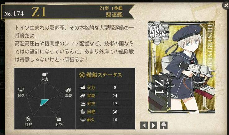 図鑑No.174 Z1(レーベレヒト・マース)