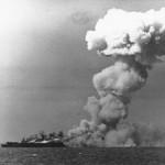 【1944年 レイテ沖海戦】史上最大の海戦。多数の轟沈を受けて事実上の連合艦隊壊滅