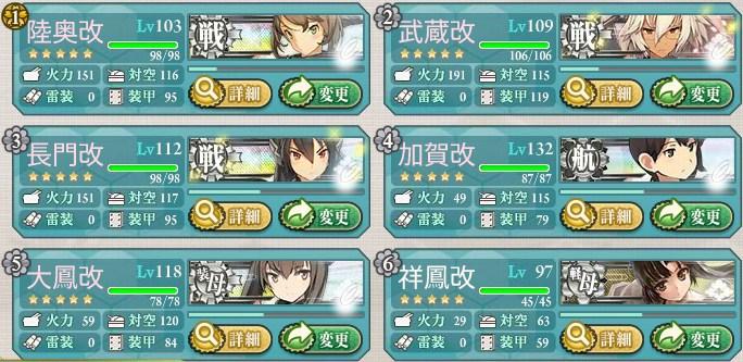 5-5 低速戦艦 編成例