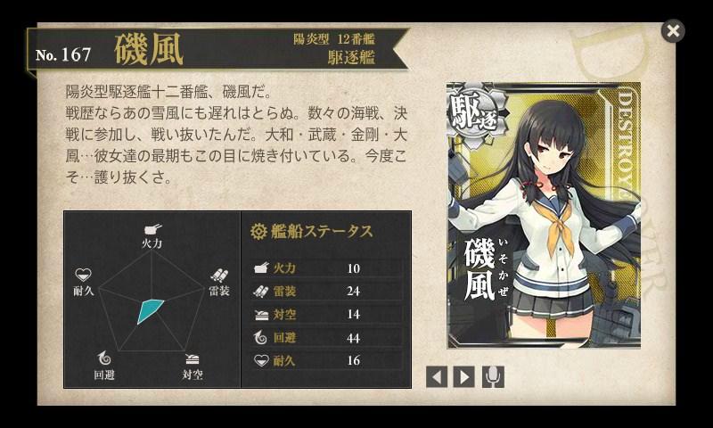 図鑑No.167 磯風